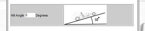 Hill Angle Option can be changed to zero degrees for Flat Surface Calcs