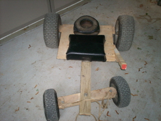 How to make a go cart kart out of wooden push mower